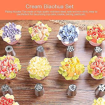 10 Pcs Russian Tips Icing Piping Nozzles Sphere Ball Pastry Tips & Converter