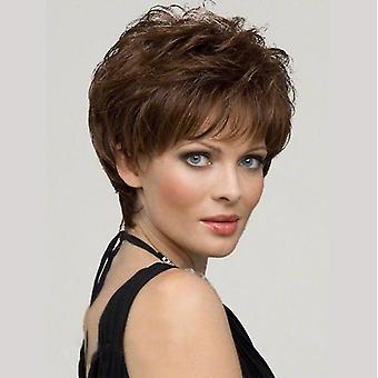 Kvinnor Mode Short Wave Wig (Brun)