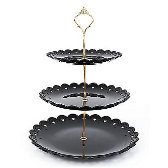 Three Layer Fruit Cake Plate Stand Home Party Dessert Storage Rack  Tray|Dishes & Plates