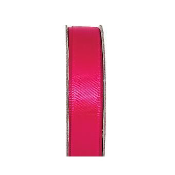 LAST FEW - 3m Fuchsia Pink 10mm Wide Satin Craft Ribbon