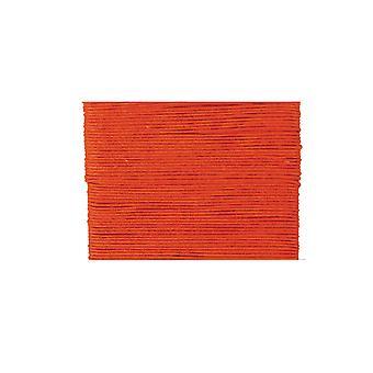 20m oransje vokset bomull 1mm streng for threading håndverk   Ledning og elastisk