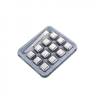 Stainless Steel Chilling Cubes Reusable Ice Cube Whiskey Stones(12PCS)