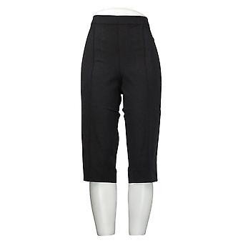 Isaac Mizrahi En direct! Leggings Régulier 24/7 Stretch Pedal Pushers Noir A377472