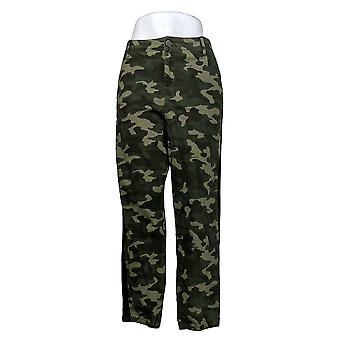 Skinnygirl Women's Pants Utility Jogger With Contrast Trim Green 672192