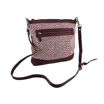 Tweed Crossbody taske w/justerbar og aftagelig strop