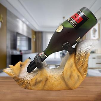 Creatieve hars wolf wijnfles houder beeldjes Europese creatieve wolf wijnrek dierlijke wijnrek