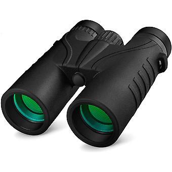 10x42 Binoculars for Adults - Professional HD Roof BAK4 Prism Lens Binoculars for Bird Watching, Hunting, Travel, Sports, Opera, Concert, (black)