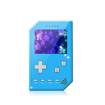 Home game console accessories retro handheld games console for kids adults 3 inch screen video games with av cable play on tv-blue