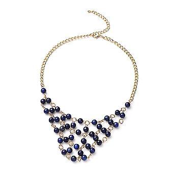 TJC Halsband Halskette für Frauen 21 '' Lapislazuli Geschenk für Frau / Mutter 224ct