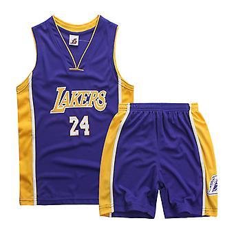 Los Angeles Lakers Kobe Bryant Trikot Nr.24/Kinder Basketball Uniform Set Kinder/lila