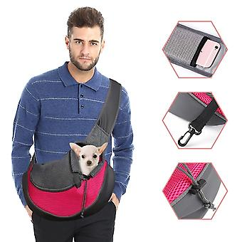 Pet Sling Carrier Backpack Carrier Bag Fit Small Size Cat Dogs Comfortable Breathable Carriers Backpack Sling  For Dog