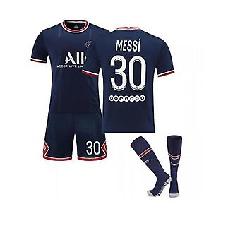 Messi 30 Trikot Home 2021-2022 Kinder Jungen Paris Fußball T-Shirts Trikot Set