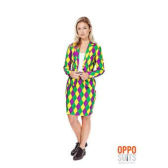 Harlequeen Opposuits Mesdames costume coloré Slimline 2 prime UE tailles