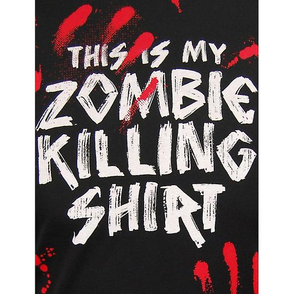 Goodie Two Sleeves Mens Zombie Killing T Shirt By Goodie Two Sleeves, Black