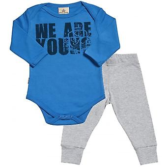 Spoilt Rotten We Are Young Babygrow & Jersey Trousers Outfit Set