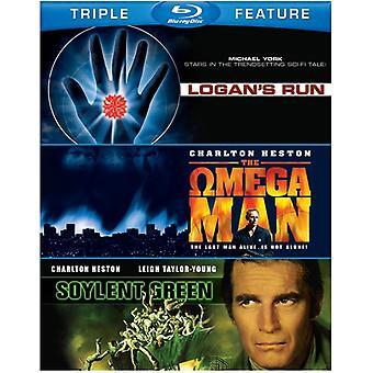 Soylent Green/Logan's Run/Omega mand [BLU-RAY] USA importerer