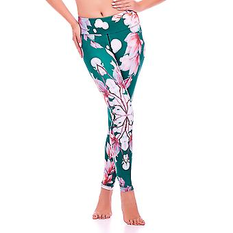 Mio Active Oriental Blossom Yoga Pants MS16S11L