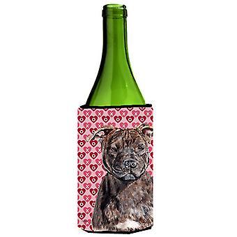 Staffordshire Tøys Skrekkelig stab hjerter og kjærlighet vinflaske drikke Insulato