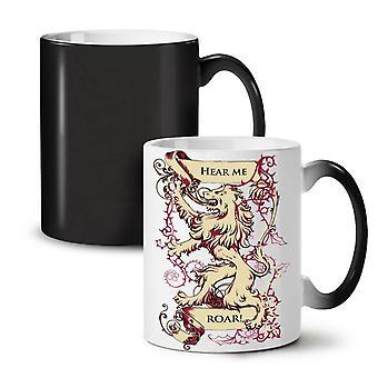 Usłyszeć MeLion nowy czarny kolor zmiana herbata kawa ceramiczny kubek 11 oz | Wellcoda