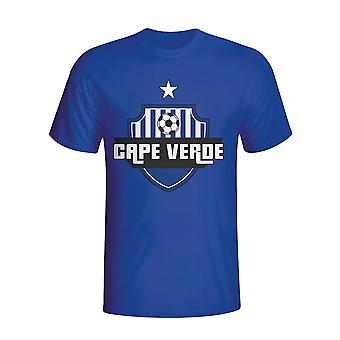 Cape Verde Country Logo T-shirt (blue) - Kids