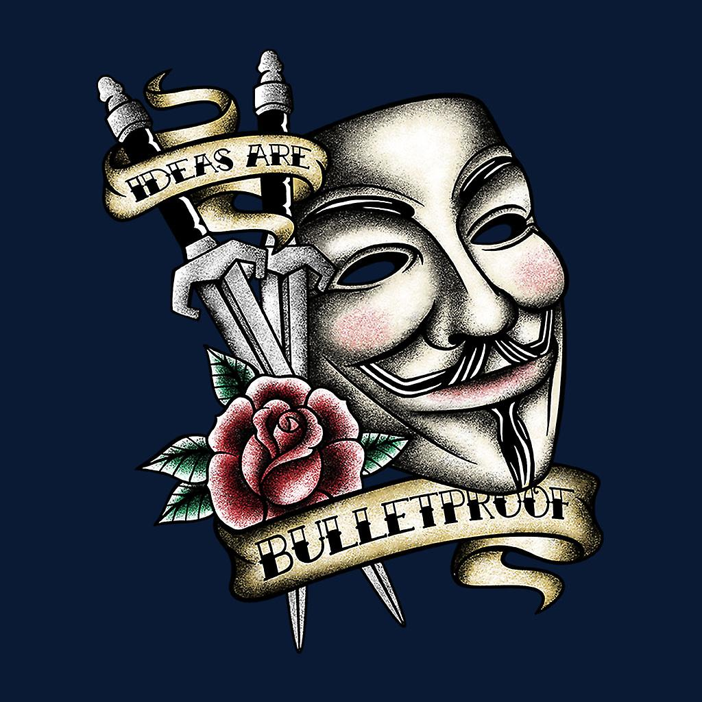 V For Vendetta Mask Traditional Tattoo Style Kid S Sweatshirt Fruugo