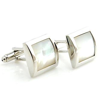 Mens Ladies Silver Tone Cufflinks With Encrusted Black Stone Wedding Formal Business