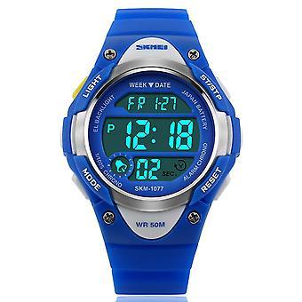 Los muchachos SKMEI azul reloj Digital 50m resistente al agua con cronómetro alarma perfecto para las edades 5 a 13