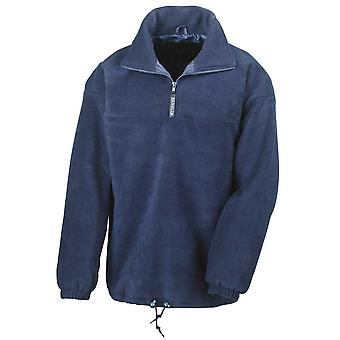 Result Mens Active Half Zip Fleece Jackets Lined Pullover