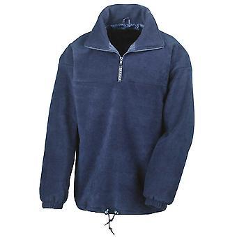 Resultado ativo Mens metade Zip casacos de lã forrado Pullover