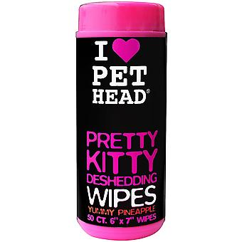 PET Head szép Kitty deshedding Wipes 50 darabos, darabos a macskák, Yummy ananász
