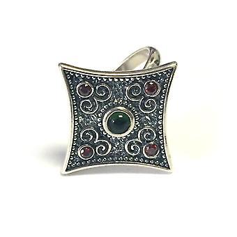 Sterling sølv Byzantinsk stil Rhombus Ring