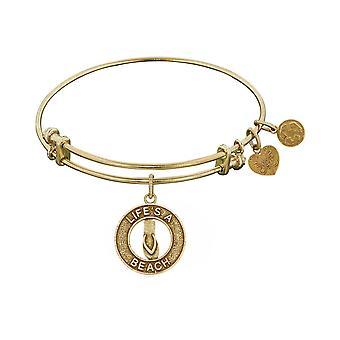 Stipple Finish Brass Life's a Beach Angelica Bangle Bracelet, 7.25""