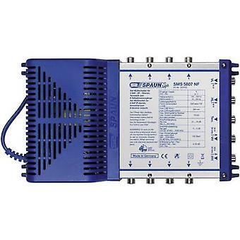 Spaun licht SMS 5807 NF SAT multiswitch ingangen (multiswitches): 5 (4 SAT/1 terrestrial) nr. van de deelnemers: 8 stand-by modus