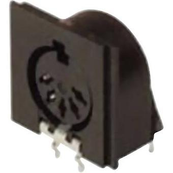 Hirschmann MAB 5SH DIN connector Socket, horizontal mount Number of pins: 5 Black 1 pc(s)