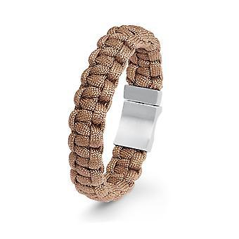 s.Oliver Jewel Herren Armband Nylon braun Edelstahl 2022615