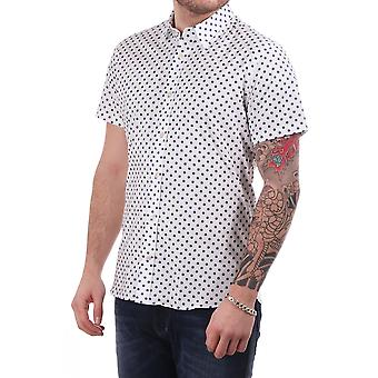 J Lindeberg Daniel Ss Shirt With Allover Spot Print