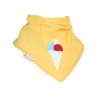 Yellow ice cream bandana bib
