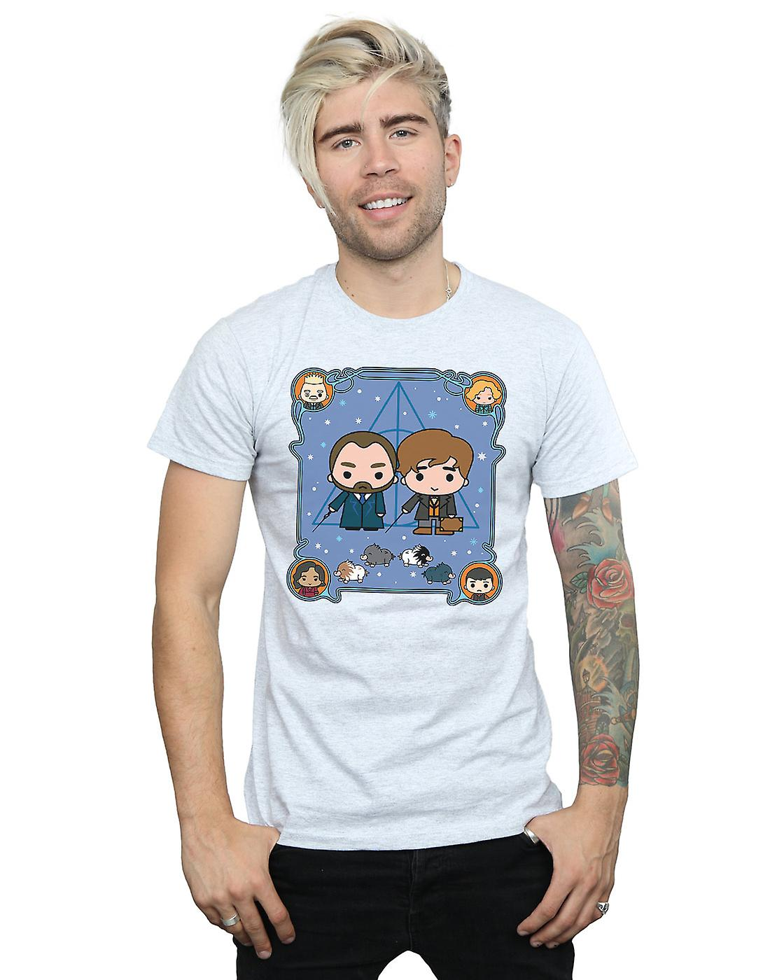 Fantastic Beasts Men's Chibi Newt And Dumbledore T-Shirt