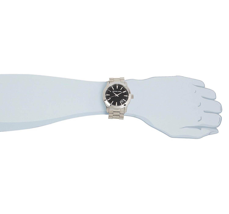 Stunning Michael Kors Mens Designer Watch Silver Black Watches Present MK7052