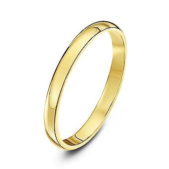 Star Wedding Rings 9ct Yellow Gold Heavy D Shape 2mm Wedding Ring