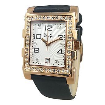 Saphir Ladies Dress Gold Watch Rectangular Date Stones RRP £190 UK Warranty SALE