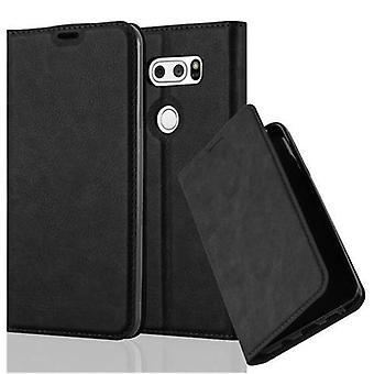 Cadorabo Hülle für LG V30 Case Cover - Handyhülle mit Magnetverschluss, Standfunktion und Kartenfach – Case Cover Schutzhülle Etui Tasche Book Klapp Style