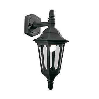 Parish Mini ned veggen Lantern svart - Elstead belysning