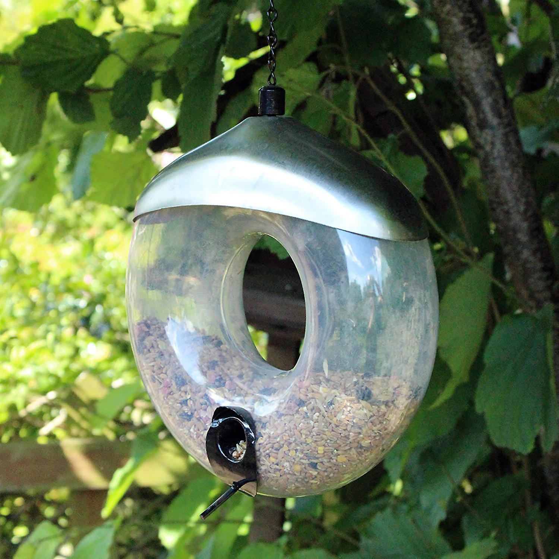Natures Market BF034 Stainless Steel Metal Seed Doughnut Shaped Wild Bird Feeder
