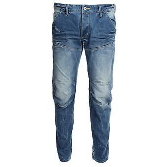 G-Star 5620 3D 低锥形光老化洗威斯克牛仔牛仔裤