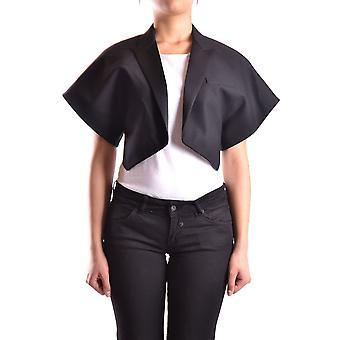 Saint Laurent Ezbc022019 Women's Black Wool Outerwear Jacket