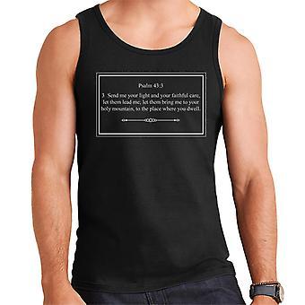 Religious Quotes Send Me Your Light Psalm 43 3 Men's Vest
