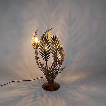 QAZQA mesa Vintage lâmpada grande ouro - Botanica