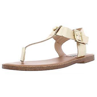史蒂夫·马登 妇女 天拉尔 皮革 打开脚趾 休闲幻灯片凉鞋