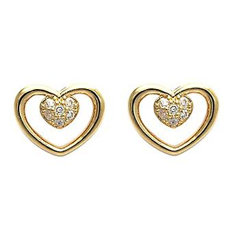 Ah! Jewellery Open Heart Studs Earrings